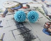 little mum earrings-Turquoise