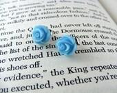 flower bud earrings-LIGHT BLUE