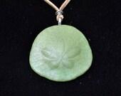Sand Dollar Necklace - Sea Foam Green