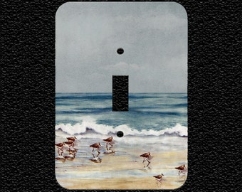 Sea Birds at the Beach Switch Plate Cover