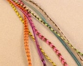 Bright Rainbow Color Mix of Feather Hair extension Feathers Long- Holiday Sale-Free Shipping