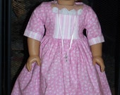 1774-18 inch Doll Historical Dress, Mob Cap, Choker & House Key Necklace