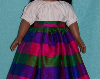 1824-18 inch Doll Camisa and Silk Skirt Outfit fits Josefina
