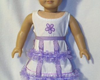 1853-18 inch Doll Historical  Lavender Crinoline and White Chemise