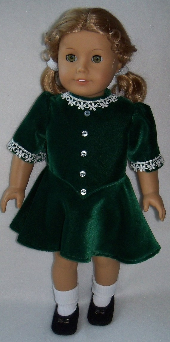 1944 american girl doll molly emily christmas dress. Black Bedroom Furniture Sets. Home Design Ideas