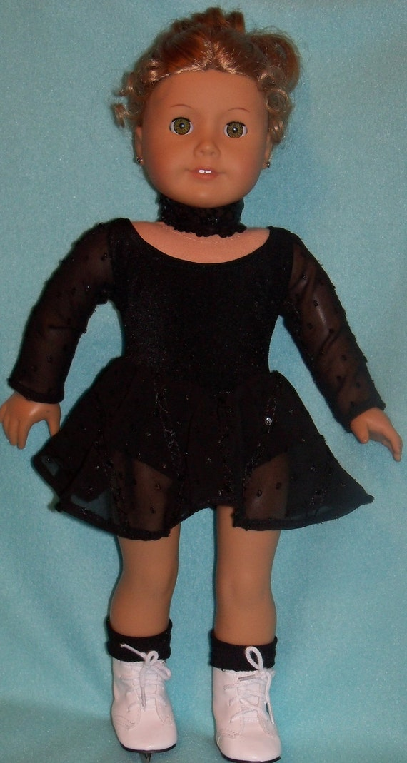 American Girl Doll Skating Outfit with Skates, Socks, and Sequin Choker
