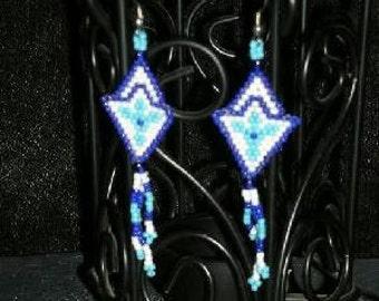 Trillium Seed Bead Earrings