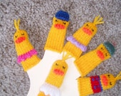 Little Ducks Finger Puppet Set.  (Includes Six Duck Finger Puppets - One Mama, Five Kids.)  We can create custom orders.