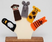 Reserved for OnTimeSupplies.  Custom Zoo Animals Finger Puppet Set plus Duck (Includes Penguin, Monkey, Elephant, Giraffe, and Tiger.)
