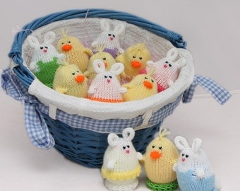 Easter Egglets  (Set of 12 - 4 Boy Bunnies, 4 Girl Bunnies, and 4 Chicks.) Want a different grouping - just contact us.