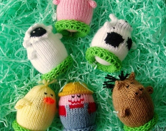 Farm Animal Egglets (Includes Farmer, Pig, Cow, Duck, Sheep, and Horse.)  Want a different grouping - just contact us.