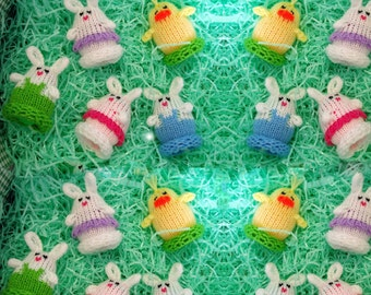 Mini Easter Egglets (Set of 12 - 4 Boy Bunnies, 4 Girl Bunnies, and 4 Chicks.)  Want a different grouping - just contact us.