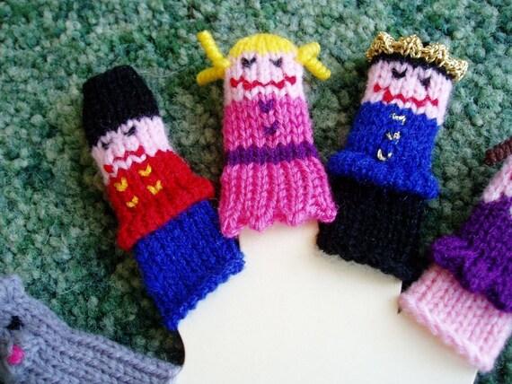 Nutcracker Finger Puppet Set (Includes Mouse King, Nutcracker, Clara, Prince, and Sugar Plum Fairy.) We can create custom orders.