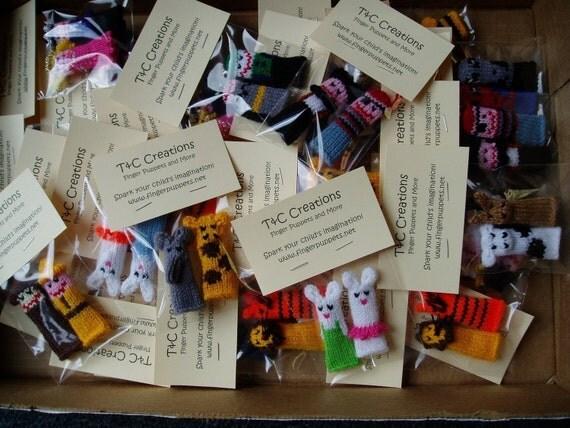 Reserved for Danielle.  Custom Finger Puppet Party Favor Pack.