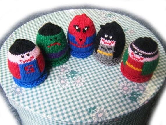 Super Heroes Egglet Set (Includes 5 different egglets)