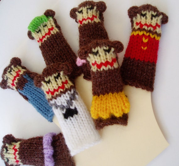 Deluxe Little Monkeys Finger Puppet Set  (Includes the five little monkeys plus mama and doctor monkey.)  We can create custom listings.