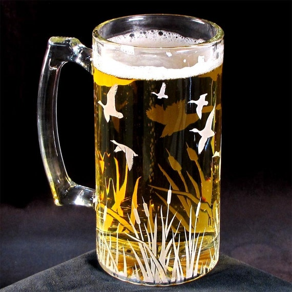 2 Autumn Wedding Groomsmen Gifts, Beer Steins for the Outdoorsman Gifts, Presents for Men