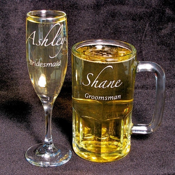 Etched Wine Glasses Wedding Gifts : ... Gifts Guest Books Portraits & Frames Wedding Favors All Gifts