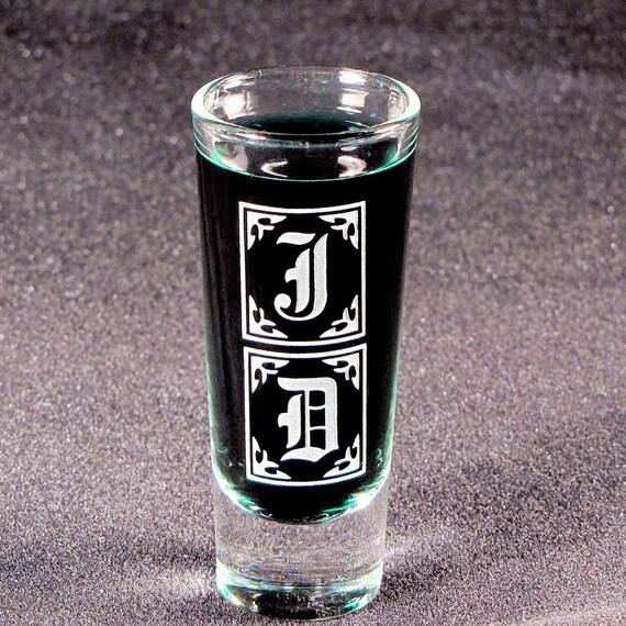 1 Monogrammed Shot Glass, Personalized Gift for Groomsmen