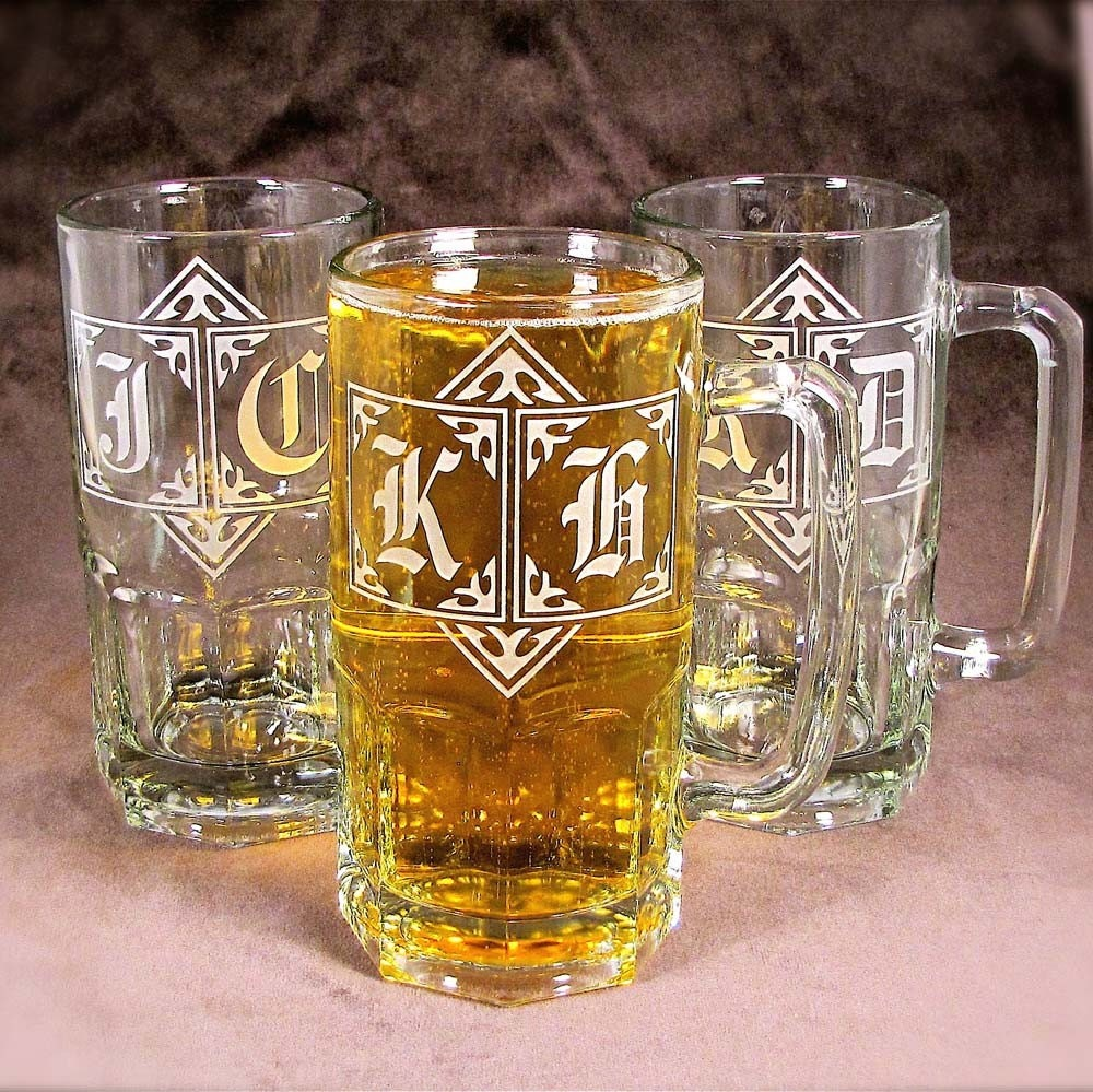 Wedding Gift Beer Mugs : HUGE 1 Liter Beer Steins Wedding Beer Mug Gift for