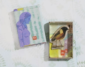 Matchbox Art - Bird, as is