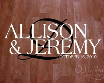 XL Wedding Dance Floor Decal - wedding floor monogram - vinyl floor decals - Our Big Day Monogram 0126