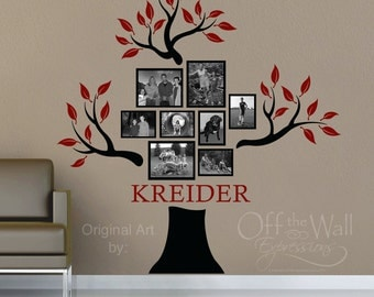 Family Tree Decal - Personalized with family name - Genealogy family tree
