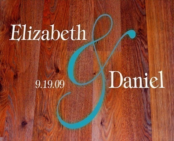 Large Personalized Wedding dance floor  vinyl decal
