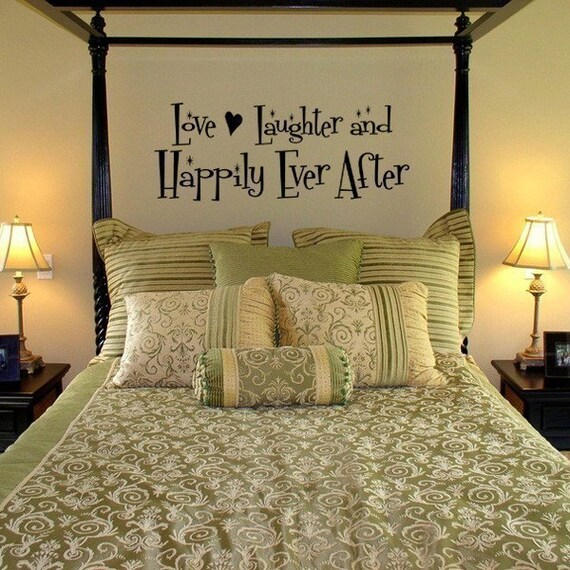 Happily Ever After vinyl decal, Love, Laughter and Happily Ever After, wedding decor, marriage quotes, anniversary gift