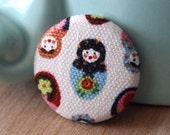 Nesting Doll Pin by Vegancraftastic