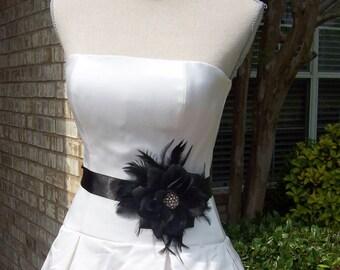 Bridal Gown Sash,Wedding Sash,Little Black Dress Sash,Mother of the Bride,Bridal Sash,Wedding Belt