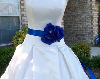 Royal Blue Wedding,Royal Blue Sash,Flower Sash,Bridal Sash,Bridal Sash,Flower Girl Sash