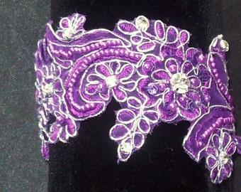 Garter,Garter,Wedding Garter,Lace Garter,Purple Garter,Garter,Bridal Garter,Plus Size Garter,Purple and Silver Wedding