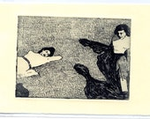 Two Ladies (on a sunny day) - etching
