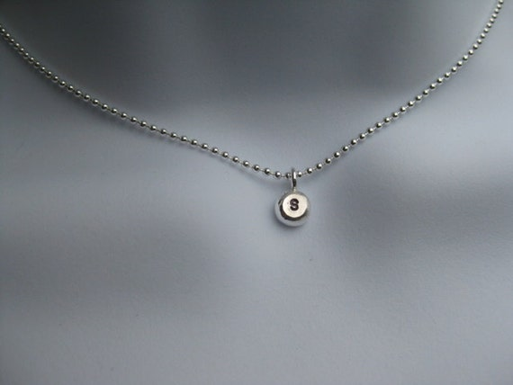 Letter Charm Necklace - Solid Sterling, Personalized