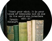 frank mccourt quote alt version (2.25-in magnet pinback button badge keychain bottle opener pocket mirror)