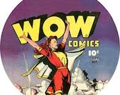 wow comics marvel girl (2.25-in magnet pinback button badge keychain bottle opener pocket mirror)