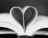 Love Story II - Black and White Photography - Still life shabby chic decor, living room decor, heart, love, Nursery Decor