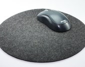 Round Felt Mouse Pad 5mm Thick Wool Felt- Computer Accessories Mousepad Home Office Cubicle Decor Desktop Desk Accessory Coworker Gift