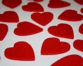HEARTfelts in 3MM Virgin Merino Wool Felt Heart Embellishments-20 count