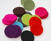 "3mm Thick Wool Felt Die Cut Circles Round Felted Dots in 1 1/2"" diameter, any color"