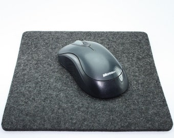 Felt Mouse Pad in 5mm Thick Virgin Merino Wool Felt, Anthracite