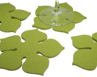 Geometric Hexagon Coasters Modern Minimalist Drink By