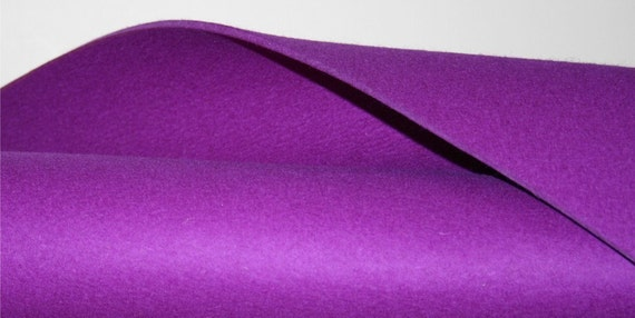 """3MM Thick Virgin Merino Wool Felt Fabric Felted Wool Material Yardage-18"""" x 18""""- in 19 colors"""