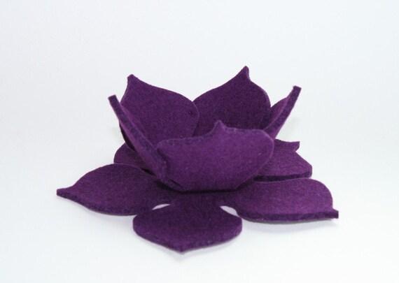 Lily Pad Felt Bowl in 3mm Virgin Merino Wool Felt- Violet