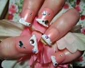 Icing Dipped Sweet Lolita Deco Nails