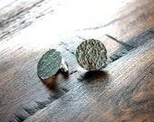 Sterling Hammered Circle Cuff Links