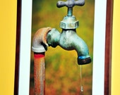 LEAKY FAUCET 8x12 Fine Art Glossy or Matte Photo Print