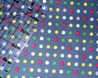 One Yard of M Liss Circus Dot Fabric