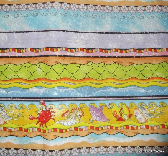 Half Yard of Mermaid Fabric Stripe